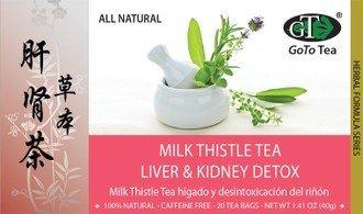 Milk Thistle Tea Liver & Kidney Detox - 20 Tea Bags