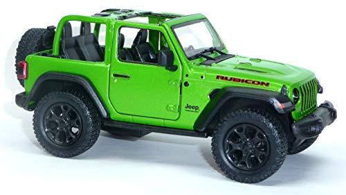 günstig Jeep Wrangler Bicon Automodell Kinsmart 12,5 cm grün offen oben Vergleich im Deutschland