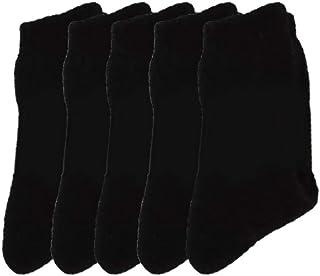 Calcetines Térmicas Gruesos Cálidos De Lana Para Hombre Color Liso Invierno Para Calentar Los Pies O Para Trabajos Duros Pack de 5 Pares