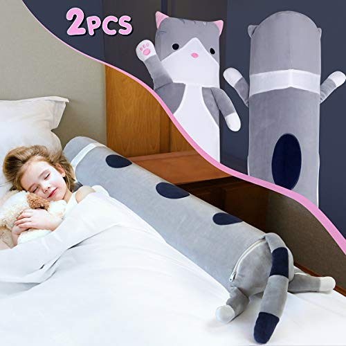 Inflatable Bed Rails for Toddlers | EONSIX Safety Baby Bed Guard | Cartoon Style Pillow Guard Bumpers for Home, Travel (2-Pack).