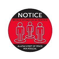6ピース社会ダンスフロアデカール滑り止めあなたの距離マーカーを維持距離の標識を維持安全床標識マーカー