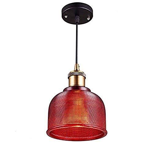 WY-YAN Luces pendientes, colorido retro lámpara de cristal, Restaurante Pasillo de la lámpara, Bar Cafe Tienda de ropa de la lámpara, colgante ajustable Personalidad vivo creativo de luz ambiental Bue