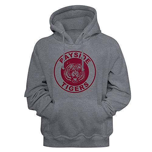 Saved by The Bell TV Show Bayside Tigers Logo Adult Long Sleeve Hoodie Sweatshirt Gray