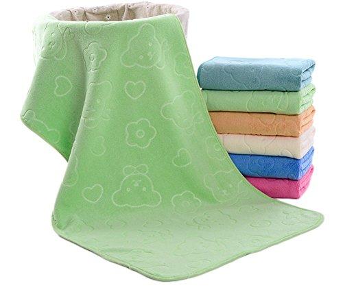 JUNGEN Handtuch ultrafeine Faser Handtuch Tasche Rand geprägt Karikatur super weichen Handtuch Handtuch(Hellgrün)