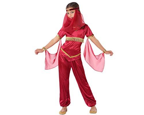 Atosa-61485 Atosa-61485-Disfraz Princesa Arabe-Infantil Niña, Color rojo, 10 a 12 años (61485