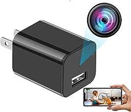 Mini Spy Camera USB Charger Camera Hidden Camera WiFi Camera Vision Motion Detection Nanny Camera Full HD 1080P Security Camera Indoor Surveillance Camera - Phone app