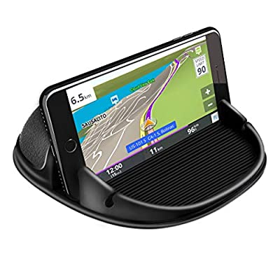 Loncaster Car Phone Holder, Car Phone Mount Silicone Car Pad Mat for Various Dashboards, Slip Free Desk Phone Stand Compatible with iPhone, Samsung, Android Smartphones, GPS Devices and More (Black) from Loncaster