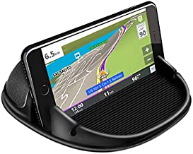 Loncaster Car Phone Holder, Car Phone Mount Silicone Car Pad Mat for Various Dashboards, Slip Free Desk Phone Stand Compatible with iPhone, Samsung, Android Smartphones, GPS Devices and More (Black)