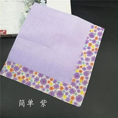 SushiSwap 1pcs Flower Handkerchief Cotton Towels Absorbent Towels Printed Hankie Ladies Handkerchiefs Women Classic Fazzoletto Chustki H16 - See Chart - 991998