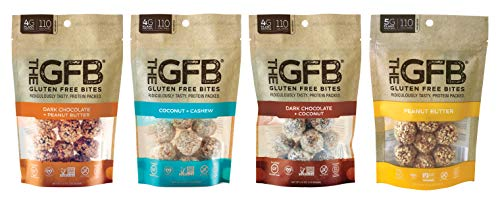 The GFB Gluten Free Protein Bites, Variety Pack, 4 Ounce (4 Count), Vegan, Dairy Free, Non GMO, Soy Free