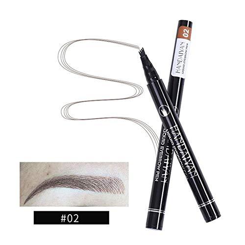ZAVAREA 3D Tattoo Augenbrauenstift Mit Vier Spitzen Microblading Augenbrauenmarker Langlebiges Wasserdichtes Wischfestes Augenbrauengel füR Augen Make-Up 1 Packung (A2)