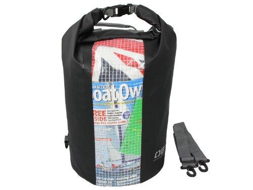 OverBoard Sac tube imperméable en toile de bâche et PVC 600D 30 litres Noir (Import Royaume Uni)