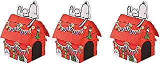 Peanuts Worldwide 3D Snoopy's Christmas Dog House Craft Kit, Set of 3