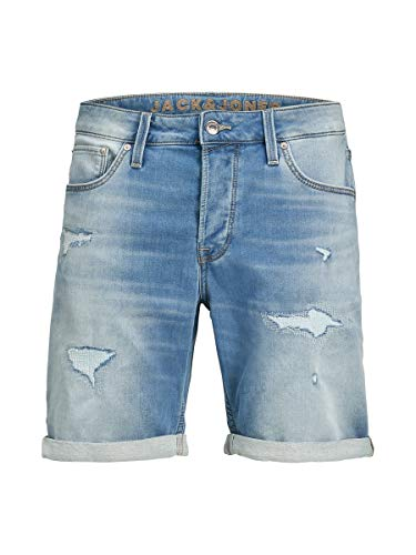 JACK & JONES Herren Jeansshorts Rick Icon GE 009 MBlue Denim