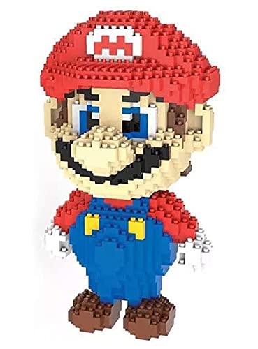 LNLJ Bloques De Construcción Juguetes, Nano 3D Dinosaur Mario Melio Modelo DIY Juguetes, Kits De Ladrillos De Diamantes, Mejor Regalo para Niña Adulto,Red Mario