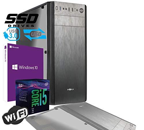 PC DESKTOP INTEL i5 9400 4,0 GHZ/GRAFICA INTEL HD 630 / 8GB DDR4 / LICENZA WINDOWS 10 PRO/SSD 480 GB/PC ASSEMBLATO PC FISSO DA UFFICIO CASA COMPLETO HD PRONTO USB 3.0 CASE ATX