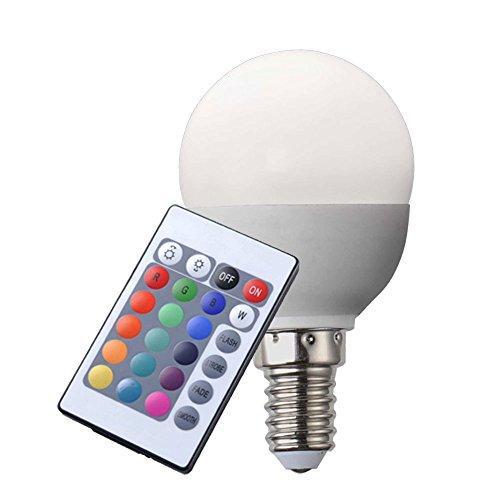 RGB LED E14 Leuchtmittel 4 Watt Glüh Birne Lampe dimmbar Globo 106750