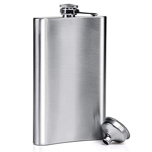 DealKits Petacas de Alcohol, Petacas de Licor Acero Inoxidable para Hombres Frasco y Embudo de Cadera, 8 oz.227 ml Adecuado para Transportar Alcohol