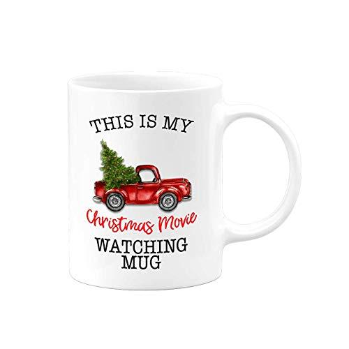 Christmas Coffee Mugs | This Is My Chrismas Movie Watching Mug | 2020 Quarantine XMAS Gifts Decor Presents Ceramic Coffee Tea Cup Tumbler | Serenity Home Goods