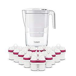BWT - 815530 - Tischwasserfilter VIDA - 2,6 l, weiß - Wasserfilterkanne mit 13 Filter-Kartuschen für Magnesium Mineralized Water