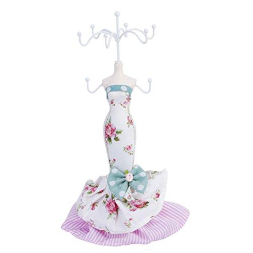 Tinksky portagioie in forma di gioielli porte-pendentif Lady Mermaid Skirt collana in orecchino organizzatore di gioielli in modello europeo