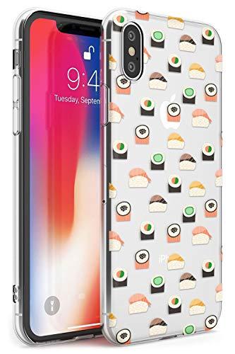 Hülle Warehouse Einfaches japanische Sushi-Muster Slim Hülle kompatibel mit iPhone XR TPU Schutz Light Phone Tasche mit Transparent Japanisch Lebensmittel Kawaii