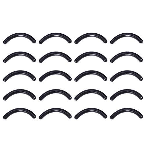 Minkissy Recharges de Recourbe-Cils 120Pcs Recharges de Remplacement de Recourbeur en Caoutchouc de Silicone Bandes pour Recourbe-Cils Universel (Noir)
