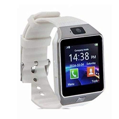 GGPUS Orologio Smart, Orologio per Telefono Card Stand-Alone, Orologio per Telefono Adulto Bluetooth,White