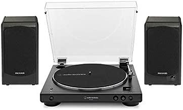 Audio-Technica AT-LP60XBT-BK Bluetooth Turntable (Black) Bundle with Microlab Pro1BT Bluetooth Bookshelf Speakers Pair (2 Items)