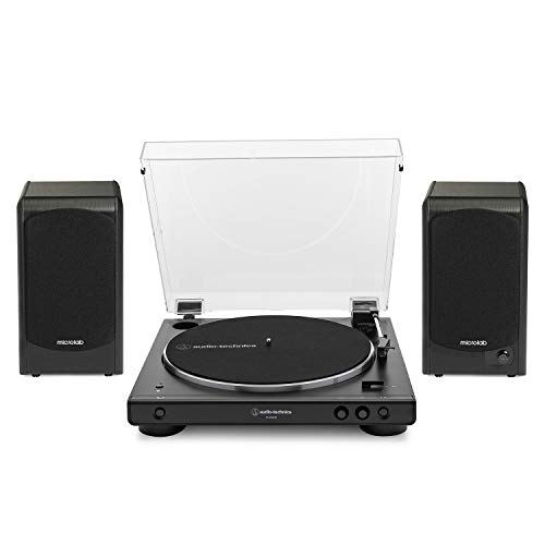 Audio-Technica AT-LP60XBT-BK Bluetooth Turntable (Black) Bundle with Microlab Pro1BT Bluetooth