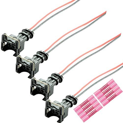 4x Einspritzdüsen Stecker EV1 Einspritzventil Reparatur 037906240 1287013003