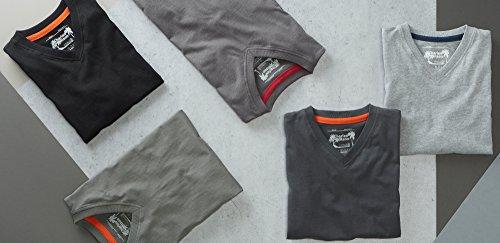 Charles Wilson 5 Pack Plain V-Neck T-Shirt (Medium, Monochrome)