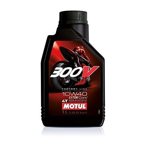 MOTUL(モチュール)300V 4T 10W40 バイク用エンジンオイル 100%化学合成(エステル) 1L [並行輸入品]