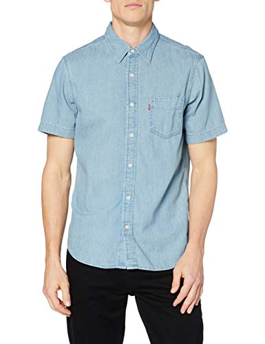 Levi's SS Classic 1 Pkt Standrd, Camisa Hombre, Red Cast Stone Wash Takedown H2 19, L