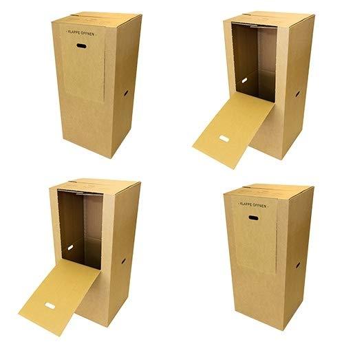 4 Kleiderkartons Spedition 2.60 BC Welle 600 x 510 x 1350 mm