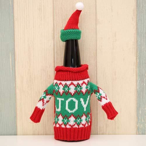 WZhen Süße Pullover Weihnachten Wein Flasche Abdeckung Mit Cap 1Pc - Colormix Joy