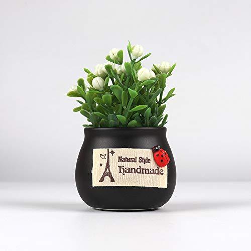 Auto Ornamente Pflanze günstige Frucht Auto Parfüm Sitz Duft personalisierte kreative Simulationsblume, Schwarzes Becken - günstige Frucht - Ginkgo