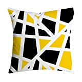HEVÜY Ananas Blatt Kissenbezüge in Baumwoll-Leinenoptik für Sofa Dekokissenhülle Haus Zimmer Auto 45x45 Serie Muster