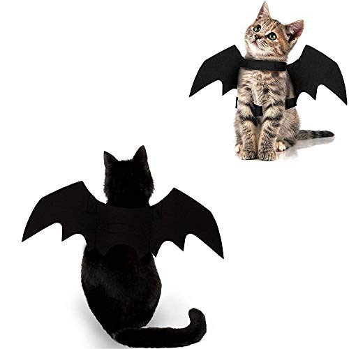 Cat Halloween Costume Bat Wings Pet Apparel Halloween Party Dress Up Accessories for Cat Small Dogs Puppy Kitty Kitten Boy or Girl
