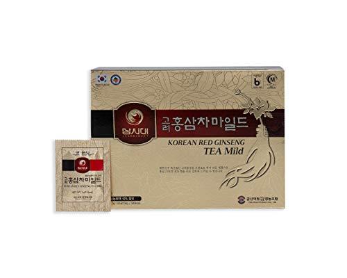 Koreanischer Roter Ginseng Tee, 50 Beuteln, stimuliert die Durchblutung, das Gedächtnis, den Tonus