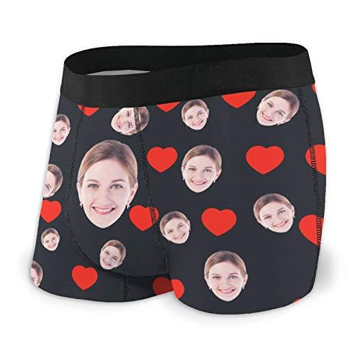 Maryaz Personalisiert Damen Herren Boxershorts Unterwäsche Unterhose, personalisierte lustige Gesicht Boxer Briefs, Multi-Farbe, Multi Girlfriend Face Photo Boxer Unterwäsche Shorts