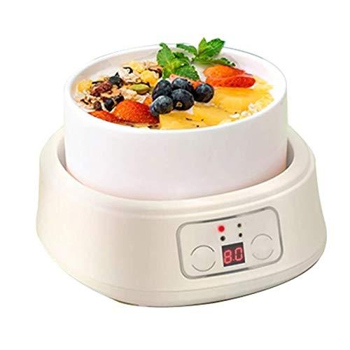 UNU_YAN Moderne Einfachheit Joghurthersteller Maschine mit keramischem Liner intelligenter Steuerung 360 ° Konstante Temperaturheizung Einfach zu lagern und zu verwenden, kann zu Hause verwendet werde