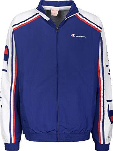 Champion Herren Trainingsjacke Full Zip Sweatshirt 212376, Größe:2XL, Farbe:blau (bai)/weiß (wht)