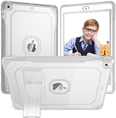 ZoneFoker Case for iPad 8th 7th Generation Case for iPad 10 2 inch Case 2020 2019 Clear Dual product image