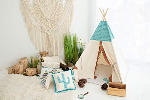 cozydots Indianer Spielzelt Tipi Zelt für Kinder Spielzelt im Alter von 0-7 Jahren, 150 cm hoch, für Jungen und Mädchen, Indianer Abenteuerzelt (Mexican)