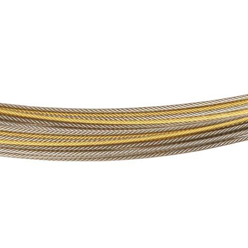 Ernstes Design DS.35.Bi - Catena in acciaio a 35 fili, bicolore, placcata oro