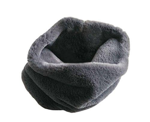 DELEY Autunno Invernali Donna Ladies Morbido Caldo Elegante Cappotto Wrap Sciarpa di Pelliccia Finta Collo Avvolgere Foulard Scarf Grigio Scuro