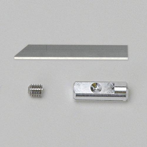本多電子 エコーテック ホビー用小型超音波カッター薄長刃ウスナガバ0.15mm(5枚入)セットZH16S(薄長刃とビスと刃固定具のセット)(ZO-40B・ZO-40W・ZO-30・ZO-41・ZO-80)プロユーザー向け
