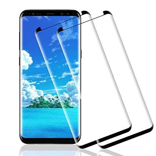 Wiestoung Protecteur D'écran en Verre Trempé pour Samsung Galaxy S8 plus, 3D avec Anti-Rayures, sans Bulles, Dureté 9H Film Protection en Écran Protecteur Vitre pour Galaxy S8 plus-2 pièces