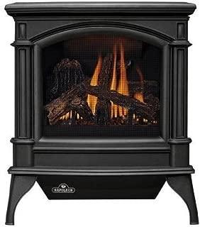 Napoleon GVFS60-1N Fireplace, Natural Gas Stove Vent Free 30,000 BTU - Painted Metallic Black